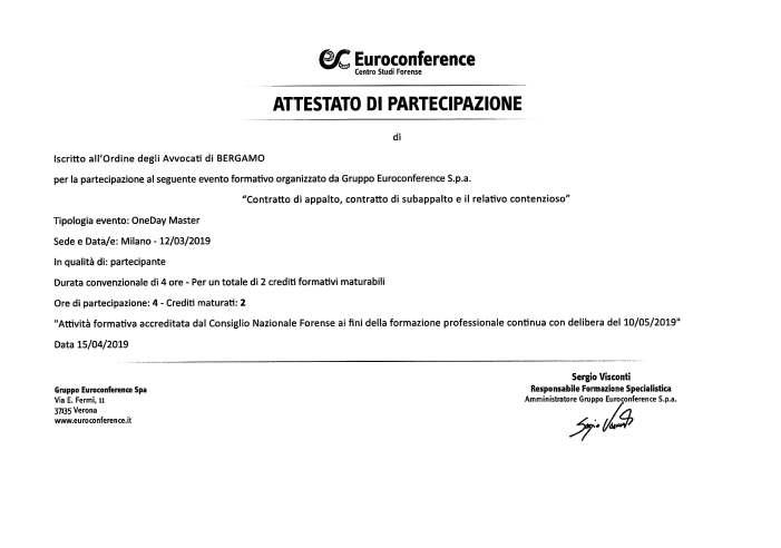Contratto di appalto, contratto di subappalto e il relativo contenzioso